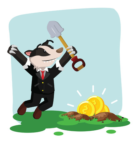 digging: business honey badger found gold when digging