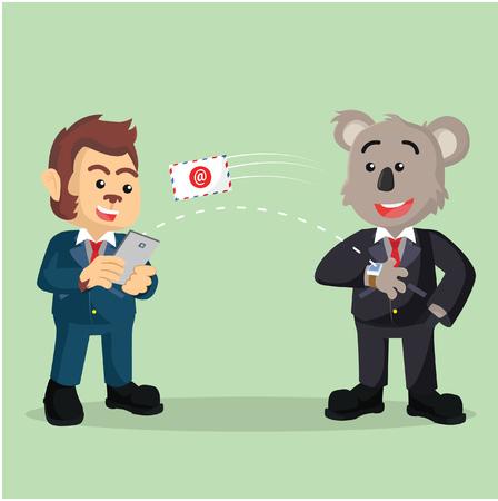 sending: business koala sending email with smart watch