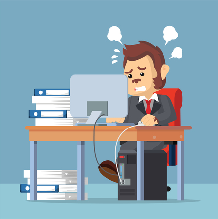 monkey suit: business monkey stress from work