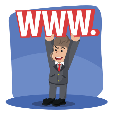 business gorilla lifting world wide web sign