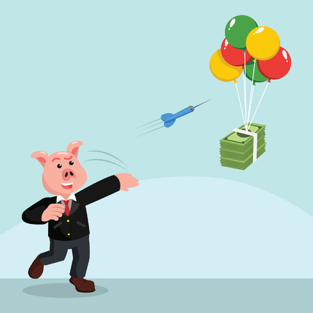 business pig darts to flying money