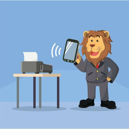 contactless: business lion smartphone mobile payment device