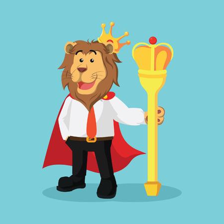 scepter: business lion king illustration design Illustration