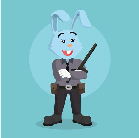 policewoman: policewoman rabbit illustration design
