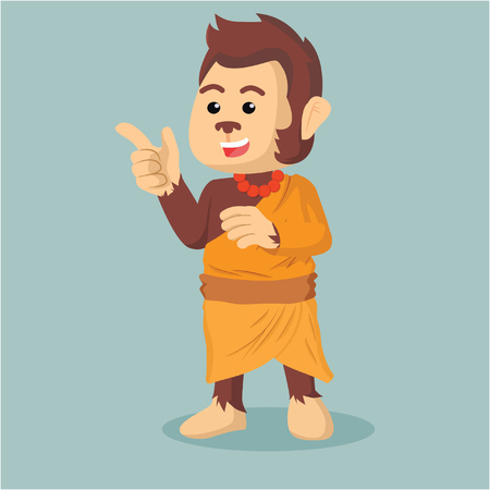 monk monkey illustration design