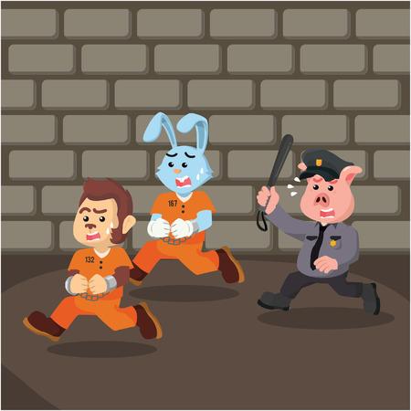 escaping: convict animal escaping prison