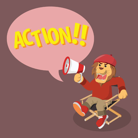lion movie director yelling action