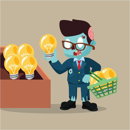 buying: zombie businessman buying idea