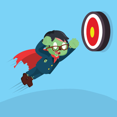 ghoulish: zombie businessman super trying to hit target