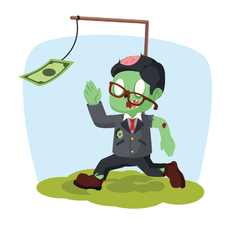 zombie businessman motivated by money