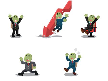 business turtle cartoon set