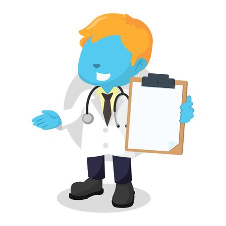 stethoscope boy: blue boy doctor holding clipboard
