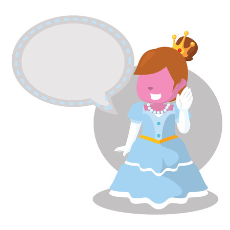callout: pink cheerful princess with callout