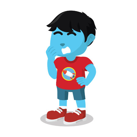 Blue boy sleepy stock illustration Stock Vector - 93258678