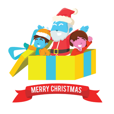 Merry christmas present illustration design– stock illustration Ilustrace