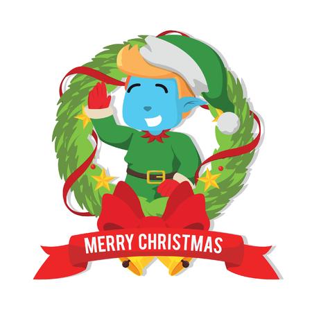 크리스마스 엘프 inside christmasà ¢ â, ¬ â € œStock illustration