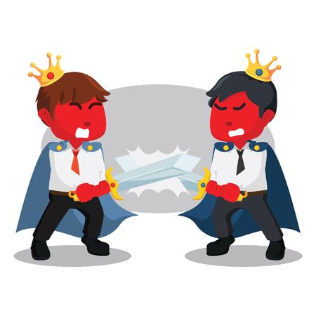 Battaglia tra illustrazione di stock di re di affari rosso Archivio Fotografico - 93276812