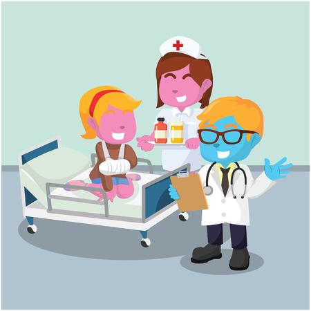 의사 방문 환자 그림 디자인 스톡 사진 스톡 콘텐츠 - 93279101