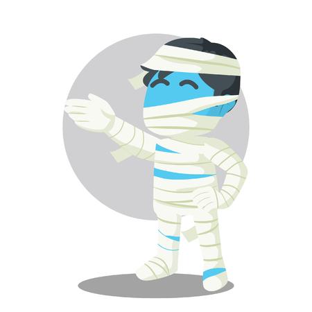 Blauwe kerel in de illustratie van de het ontwerpvoorraad van het brijkostuum. Stock Illustratie