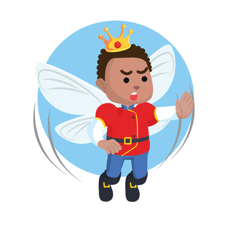 African fairy prince illustration– stock illustration Çizim