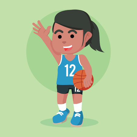 African female basketball player– stock illustration