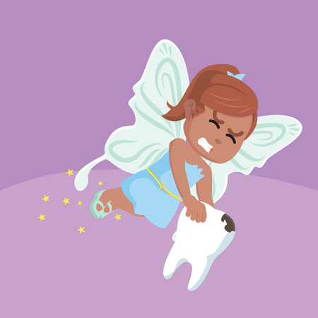 African tooth fairy illustration– stock illustration