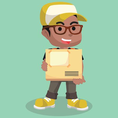 African delivery service illustration– stock illustration