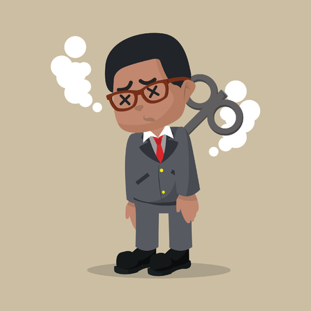 African businessman stopped working– stock illustration