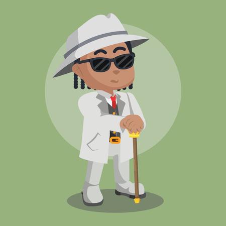 African mafia guy illustration– stock illustration