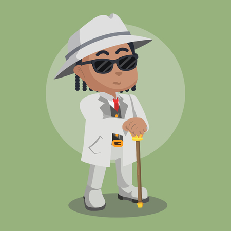 African mafia guy illustration– stock illustration