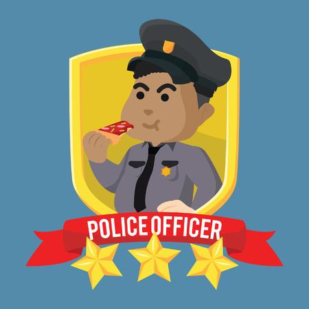 Vet Afrikaanse politieman embleem voorraad illustratie Stock Illustratie