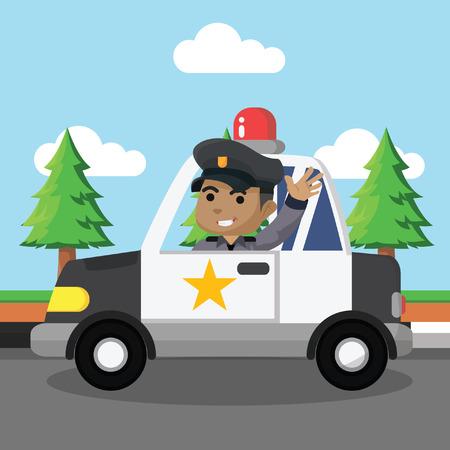 African police patrol illustration stock illustration.