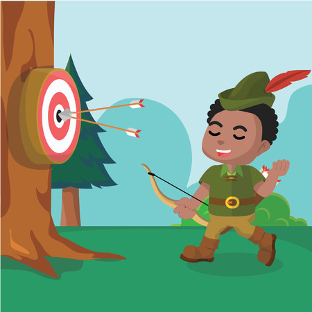 African robin hood target– stock illustration Vetores