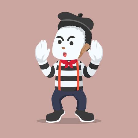 African pantomime guy illustration design– stock illustration Illustration