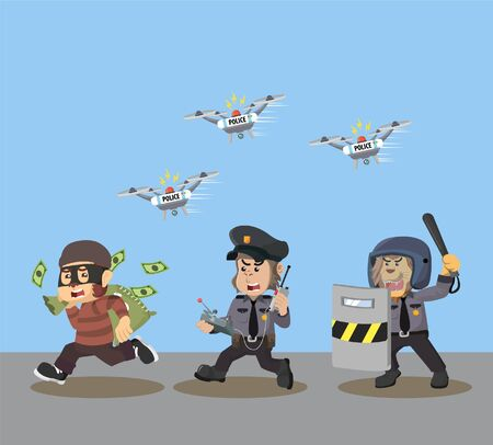 animal police chase money thieves with drone