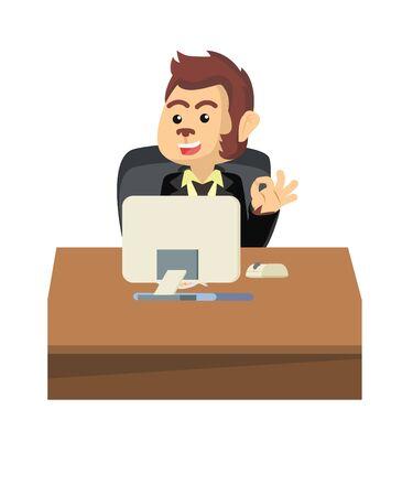 conception d'illustration vectorielle heureux homme d'affaires