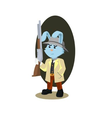 shooter rabbit vector illustration design Illusztráció