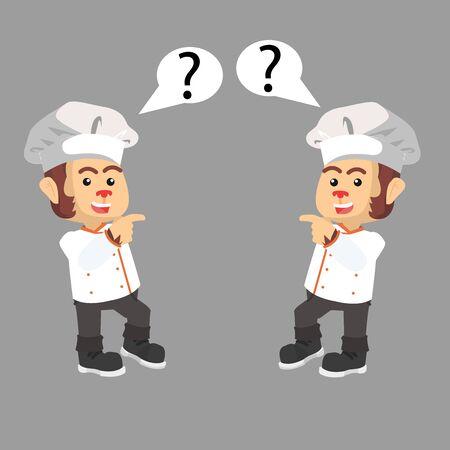 2 profesional chef vector illustration design  イラスト・ベクター素材