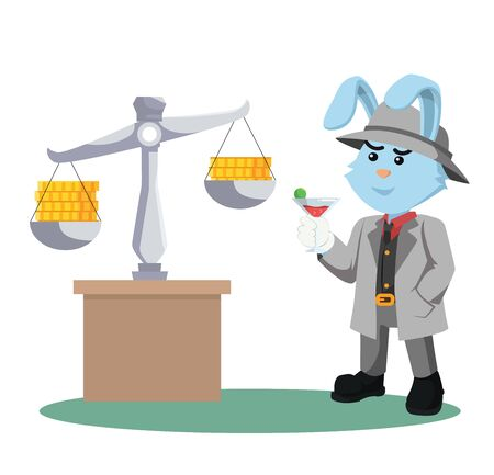 Mafia rabbits pay attention to the coin scales