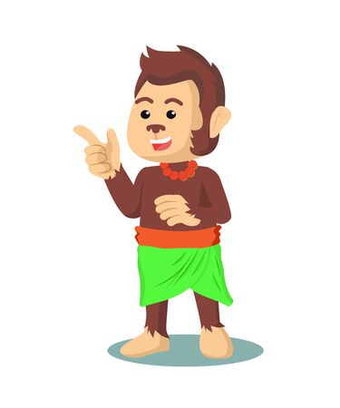 monkey hawai  vector illustration design