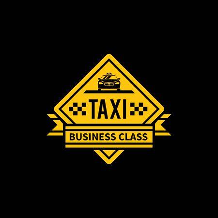 taxi logo design. taxi transportation company label. taxi logo stamp.