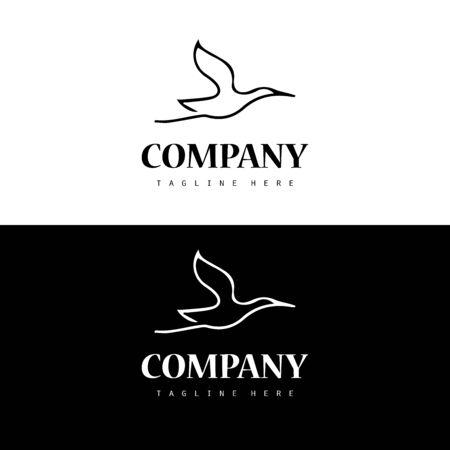 Simple stork logo icon design template  イラスト・ベクター素材