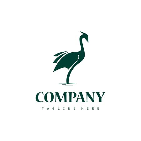 Creative stork logo icon design  イラスト・ベクター素材