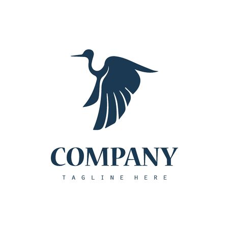 Simple stork logo icon design
