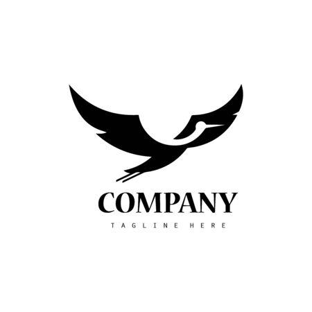 Creative stork logo icon design 向量圖像