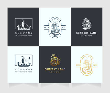 ships logo high quality vector