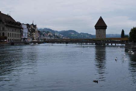 pedestrian bridges: Switzerland - Chapel Bridge - Lucerne