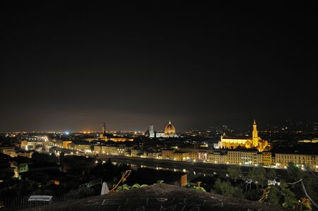 michelangelo: Florence by night from Piazzale Michelangelo Stock Photo