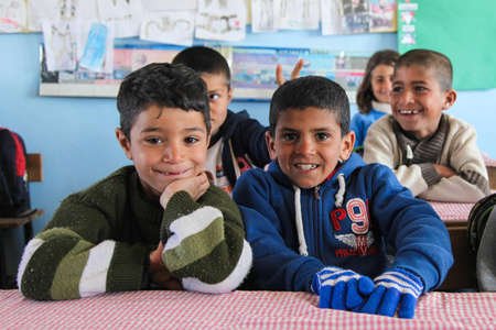 intimacy: Students in a combined class in Urfa