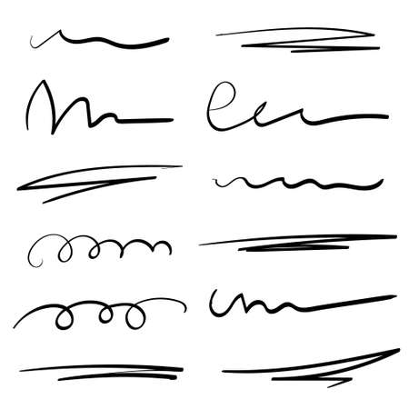 Art Lines. Isolated on white. Vector illustration for your design